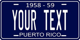 Puerto Rico 1958 Personalized Customs Novelty Tag Vehicle Car Auto Licen... - $16.75