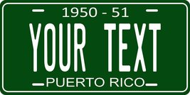 Puerto Rico 1950 Personalized Customs Novelty Tag Vehicle Car Auto Licen... - $16.75