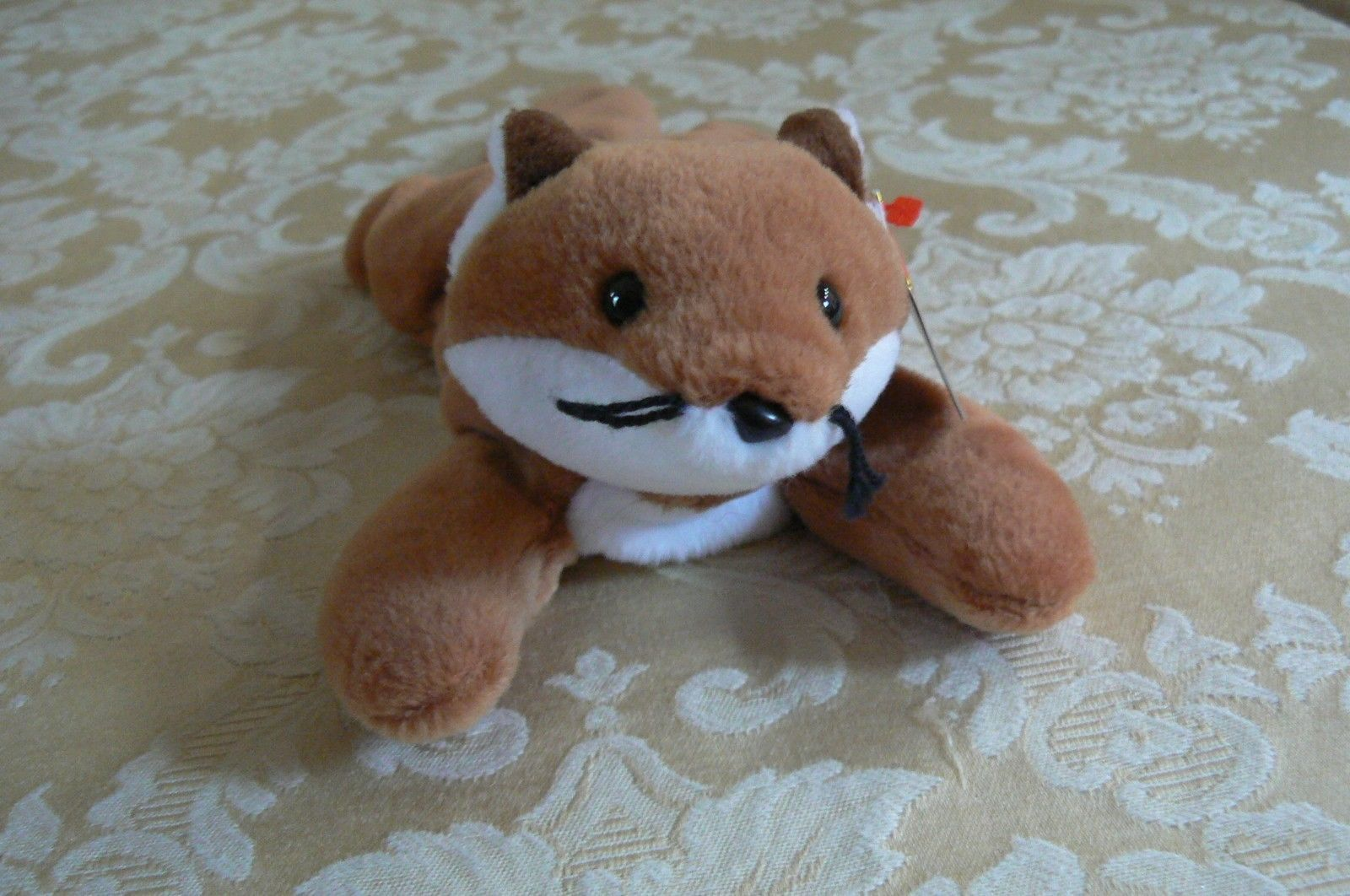 "Rare Ty Original Beanie Babies "" Sly "" The Fox - Retired Errors Mint Condition"
