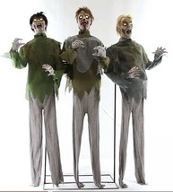 Animated Life Size ZOMBIE HORDE PROP-Moaning Sound-LED Eyes-Haunted Hous... - $197.97