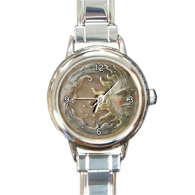 Ladies Round Italian Charm Bracelet Watch Sun And Moon Gift model 26025873