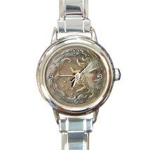 Ladies Round Italian Charm Bracelet Watch Sun And Moon Gift model 26025873 - $11.99