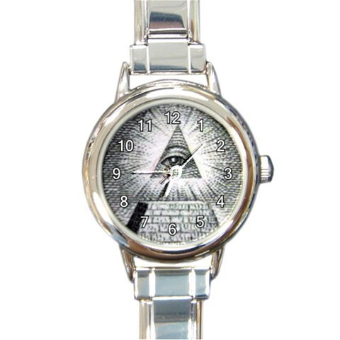 Ladies Round Italian Charm Bracelet Watch The All Seeing Eye Gift model 14789652