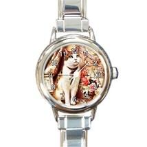 Ladies Round Italian Charm Bracelet Watch Victorian Cat Gift model 30350841 - $11.99