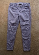 American Eagle Skinny Jeans Ankle Zipper Polka Dots Lavender Size 4  Run... - $22.97