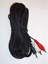 """25Ft 3.5mm 1/8"""" Mini Plug to 2 RCA Male Stereo Audio Cable - $10.79"""