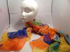 New Mad About Style Scarf Tangerine Butterfly Sherbert