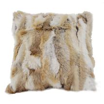 Patchwork Rabbit Fur Pillow Cover Cushion Covers Decorative Throw Pillow... - $21.99+