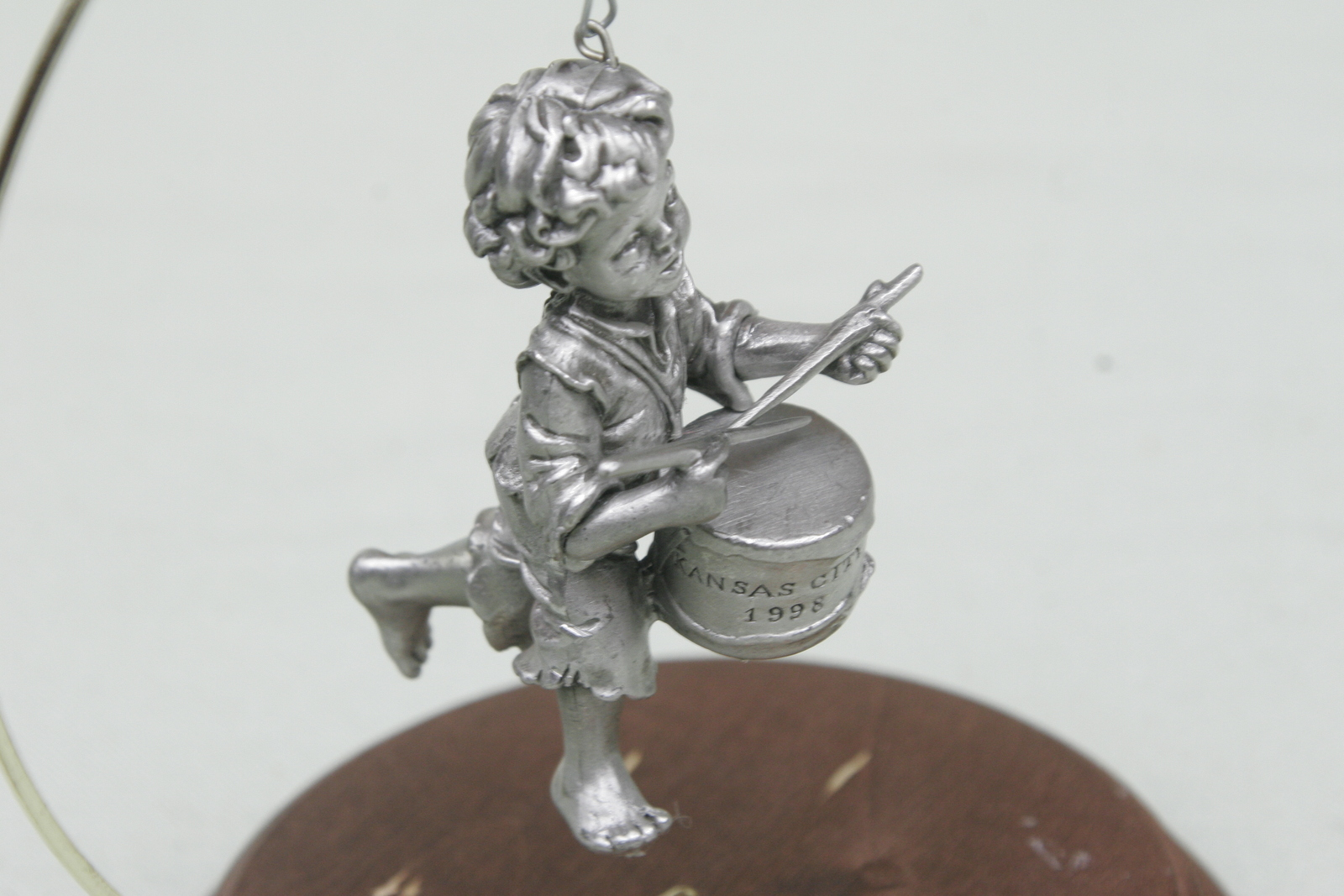 Primary image for Hallmark Kansas City Artist Collector Event 1998 Drummer Boy Mib Pewter Ornament