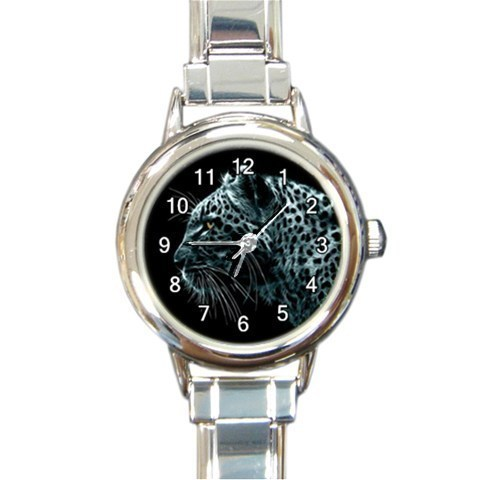 Ladies Round Italian Charm Watch Leopard Wild Animal Gift model 30351271