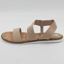 Steve Madden Womens Daim Flat Sandals Beige Nude Cork Slingback 9 New - $23.74