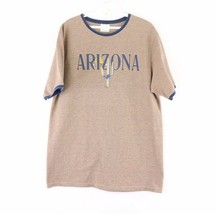 Vintage 90s Streetwear Mens Large Arizona Spell Out Cactus Moon Ringer T... - $29.65