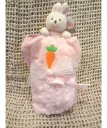 Baby GUND ~ BUFFY PINK Security BLANKET LOVEY RATTLE Plush BABY TOY 3627... - $18.54