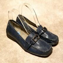 Aerosoles Womens Matter of Fact Sz 6.5 M Blue Slip On Loafers Flats - $34.99