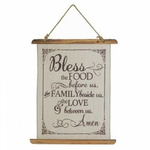BLESS FOOD LINEN WALL ART by Accent Plus – ITEM# 18386 - $18.95