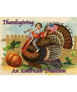 Thanksgiving an American Tradition Turkey Patriotic Harvest Fall Metal Sign - $29.95