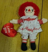 "Applause RAGGEDY ANN DOLL W/ HEART 9"" Plush STUFFED ANIMAL Toy - $15.35"