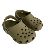 Crocs Toddlers Shoe Size 4  5 Tan Brown Rubber Clog Slip On  - $17.34