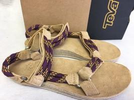 Teva Women's Original Universal Rope Suede Footbed Sandals Dark Purple 1... - $59.99