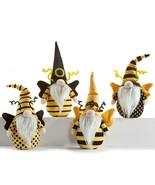 Set of 4 Gnomes Bee Designed Table Shelf Decor Black Yellow - $49.49