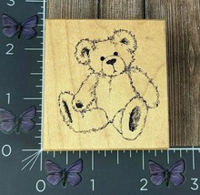 PSX Designs Teddy Bear Rubber Stamp 1999 F1815 Seated Toy Plush Wood #AG158 - $2.97