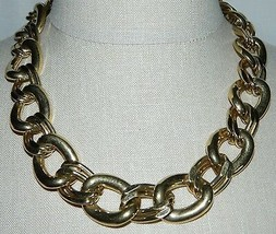 "VTG NAPIER Signed PAT. 4.774.743 Gold Tone Necklace Choker 20.5"" in Length - $39.60"