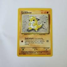 Pokemon Base Set 1999 Sandshrew Card MP 62/102 TCG Trading Card Game Unlimited - $0.99