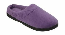 Dearfoams Women's Microfiber Velour Clog Slipper Smokey Purple Clog Slip... - $32.61