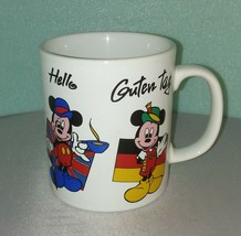 MICKEY MOUSE Language MUG Staffordshire Made in England / Disney RARE  - $33.65