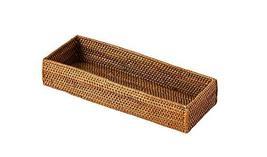 Shinsegae INT Ketak Rattan Handmade Wooden Cutlery Storage Tray Case