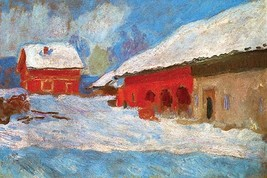 Red Houses by Claude Monet - Art Print - $19.99+
