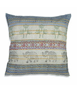 Farmhouse EDEN COTTON EURO THROW PILLOW Country Elephants Safari Floral ... - £33.70 GBP