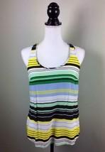Banana Republic Factory Striped Sleeveless Blouse Top Size Medium - $13.09
