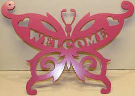 Butterfly Welcome Sign Metal Wall Art - $37.50+