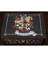Custom Wedding Gift Family Crest Coat of Arms Keepsake Box - Jewelry Box - $145.00