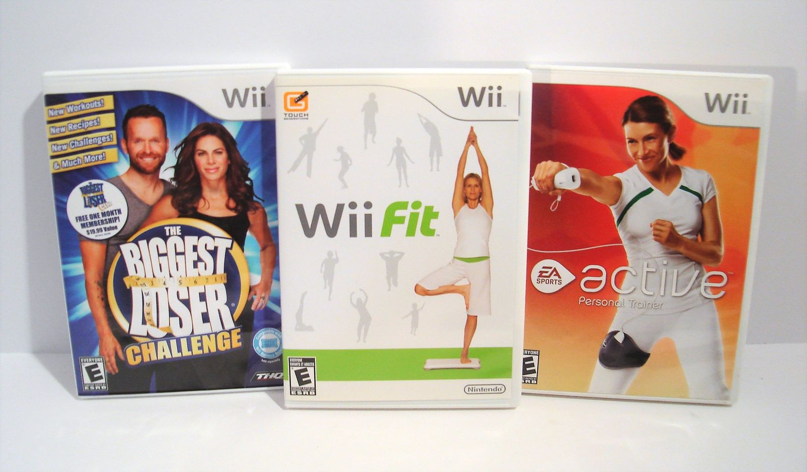Primary image for The Biggest Loser Challenge WII FIT EA Sports Active Nintendo Wii 3 Game Lot