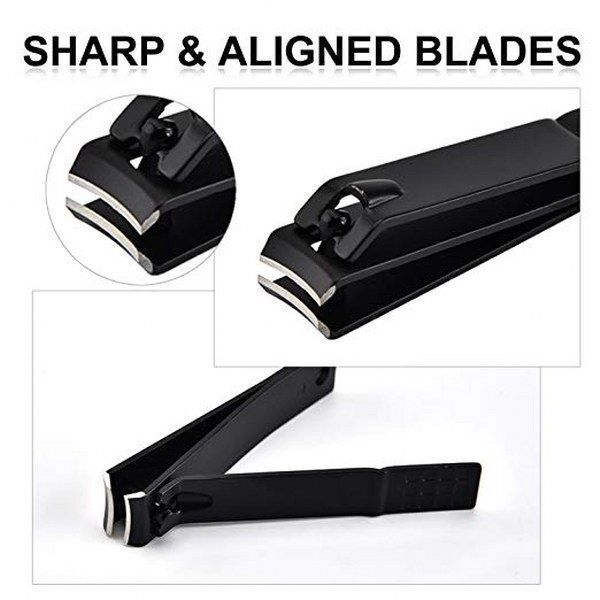 Nail Clipper Cutter Set Stainless Steel Best Heavy Duty Straight Edge Finger Toe