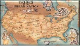 TRIBES OF INDIAN NATION Refrigerator Magnet - $1.99+
