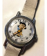 VTG dated 1952 Lucy Peanuts watch Working Running for repair - $18.56