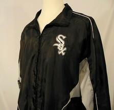Chicago White Sox MLB Mens Jacket XL Genuine Merchandise Vintage Zip Up Black - $30.74