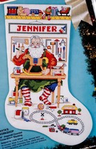 Bucilla Santas Workshop Toys Tools Christmas Cross Stitch Stocking Kit 83037 E - $52.95
