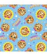 Shopkins Blue Cookie with the Look Cotton Sewing Fabric 2 Yards - $16.99