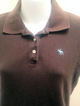 Abercrombie & Fitch Girls L Polo Shirt Brown Top School image 4