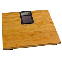 Escali Solar Bamboo Bathroom Scale - Solar Powered, Capacity of 400 Poun... - $51.44