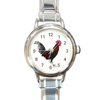 Ladies Round Italian Charm Watch Rooster Cockerel Cock Gift model 30334816