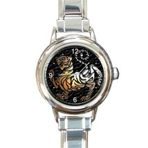 Ladies Round Italian Charm Watch Shotokan Karate Tiger Gift model 30319724 - $11.99