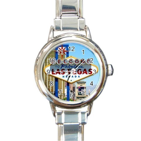 Ladies Round Italian Charm Watch Welcome Las Vegas Game Gift model 30179235