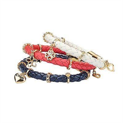 AVON Aisha Bracelet Charms New, Navy boxed