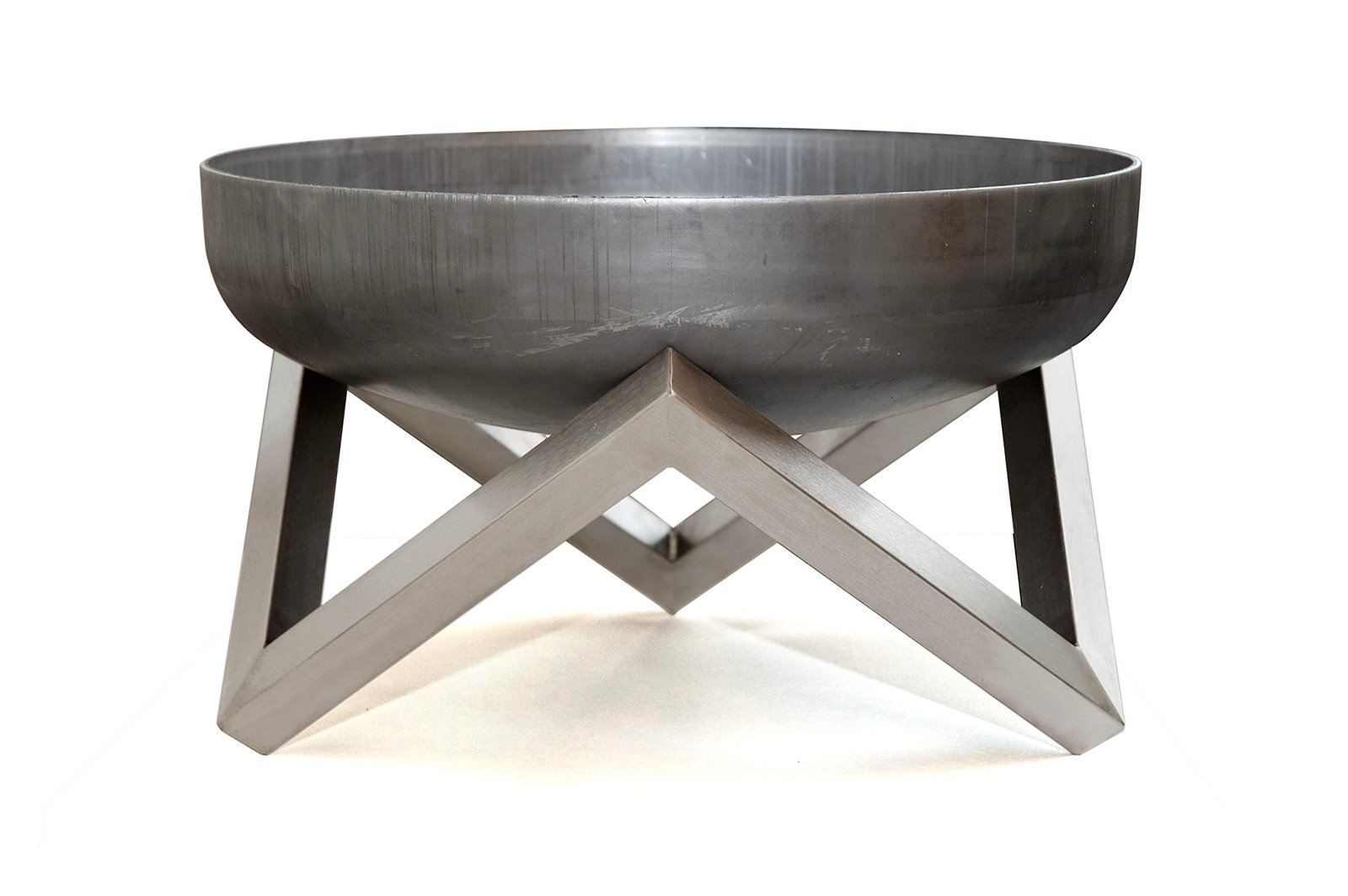 Rust stainless steel modern outdoor patio fire pit memel for Outdoor modern fire pit