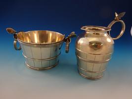 Art Silver Sterling by Gorham Sugar & Creamer w/3D Butterflies Aesthetic (#2891) - $2,495.00